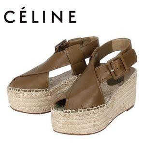 CÉLINE Espadrille Wedge Sandal